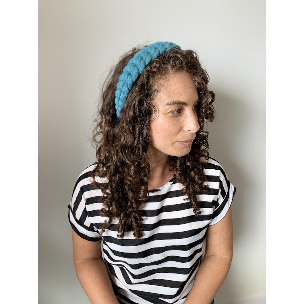 Form Norfolk Chunky Loop Knot Headband In Teal Blue