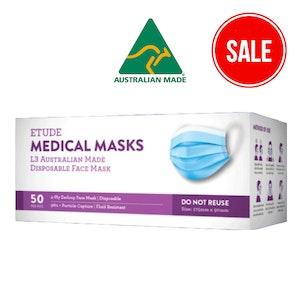 Etude Medical Masks L3   AUSTRALIAN MADE   (50 Masks Per Box)