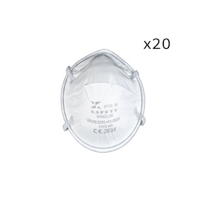 WH Safe FREE DELIVERY BUNDLE - KN95 Respirator - Cup Shaped Face Dust Mask - Pack of 20 - Twin Head Straps