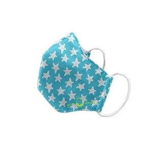 green sprouts Reusable Face Mask Child-Aqua Starfish