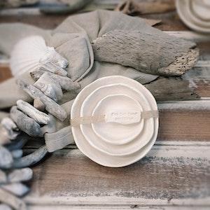 """Ceramic Nesting BOWLS """"Sand"""""""
