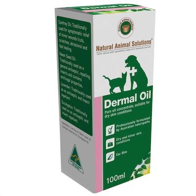 Natural Animal Solutions Nas Dermal Oil Pet Dry Skin Conditioner 100ml