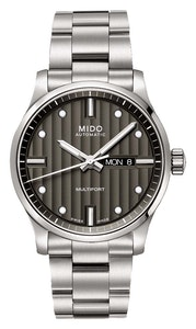 Mido Multifort Gent Anthracite - Stainless Steel - Stainless Steel Bracelet