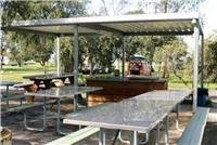 Barbecue area Milang Lakeside Caravan Park SA.