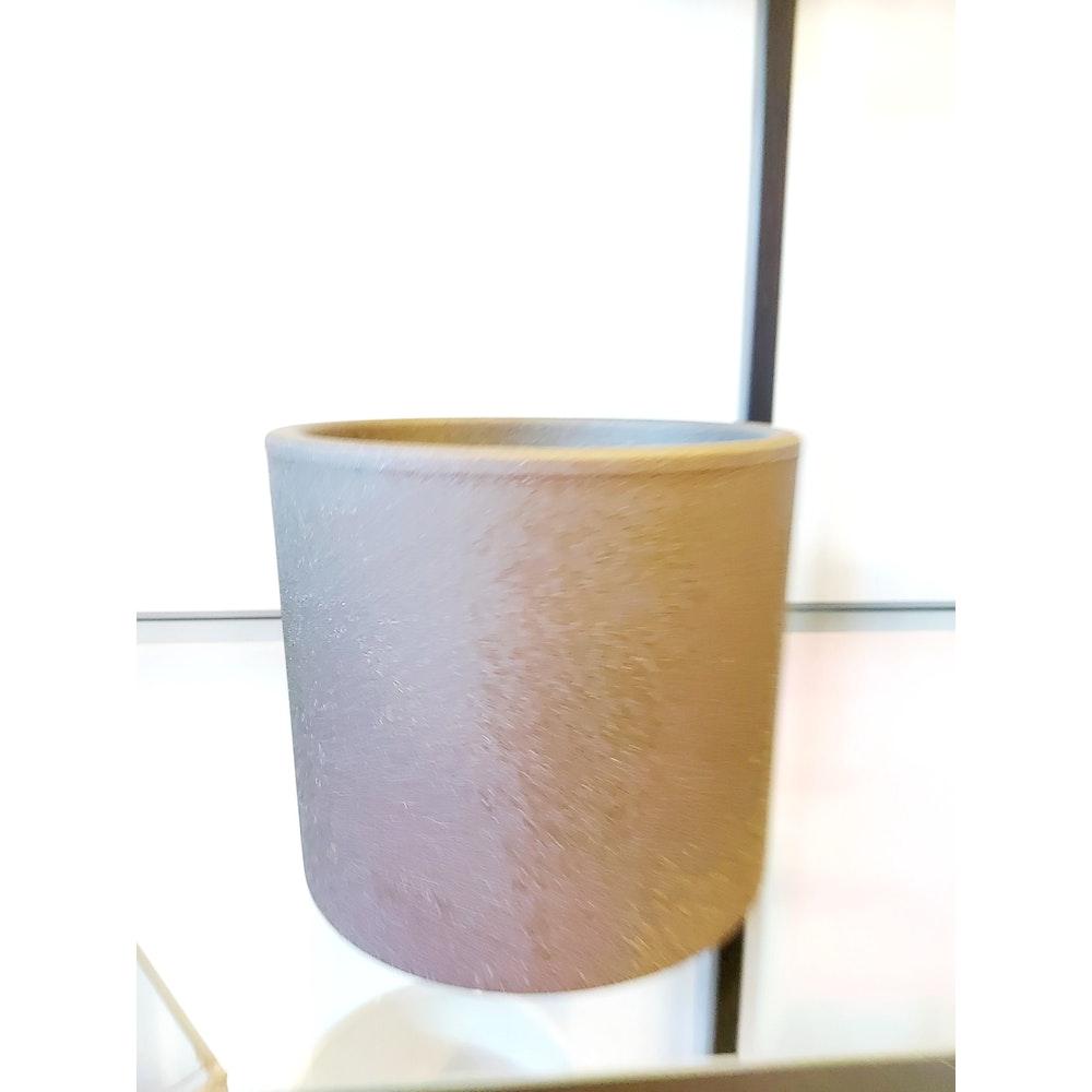 Pretty Cactus Plants  12cm Ceramic Bari Planter - Grey - D12 X H 12cm - Perfect For Houseplant In 10cm Or Smaller