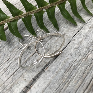 Sarah Munnings Jewellery Needle earrings in Sterling Silver. For all sewing enthusiasts