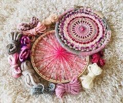 A Pop of Pink and Purple Rain Tabby Weaving Kits