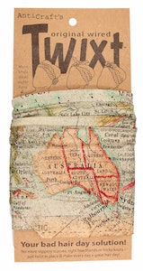 Vintage World Map - Twixt / Wired Head Wrap
