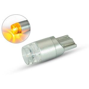 Single T10 W5W 12V LED Projector Bulb - Amber