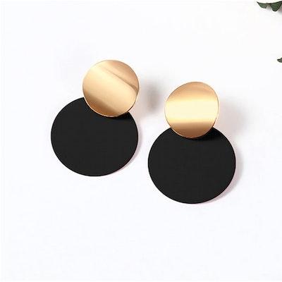 Symbolic Studio Black Round Earrings