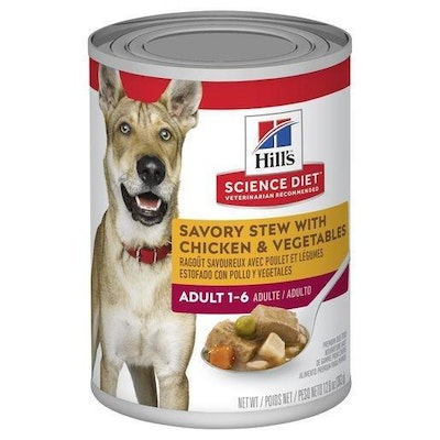 Hills Hill's Science Diet Adult Savory Stew Chicken & Vegetable Canned Dog Food 363g
