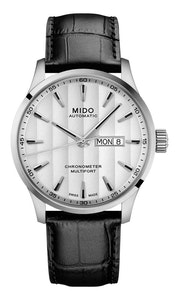 Mido Multifort Chronometer - Stainless Steel - Black Leather Strap