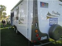 Setting-up for overnight at Junee Tourist Park