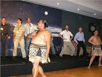 First caravan park International gives Australian visitors a Haka lesson