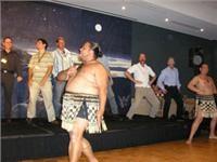First caravan park International gives Australian visitors a Haka lesson