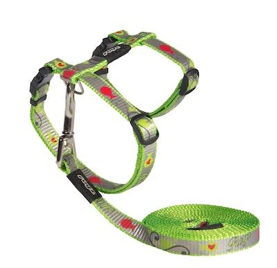 Rogz Reflectocat Harness And Lead Set Lime 11mm