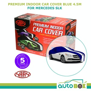 SAAS SHOW CAR COVER MEDIUM BLUE INDOOR for Classic E-TYPE MGB-GT BMW 2002 4.5m