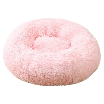 House of Pets Delight Soothing Calming Donut Pet Bed in Candy Pink