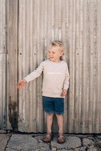 Personalised Name Sweater Latte - Plain Font