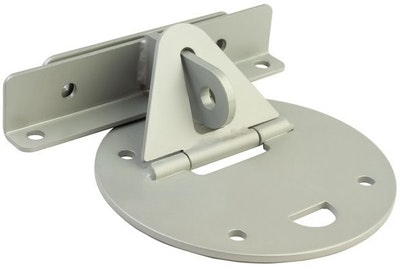"""Xtratec XTRA-LOK 1ASS garage roller door anchor full circular plate for """"Flat Concrete Surfaces"""" in Powdercoated 304 Grade Stainless Steel"""