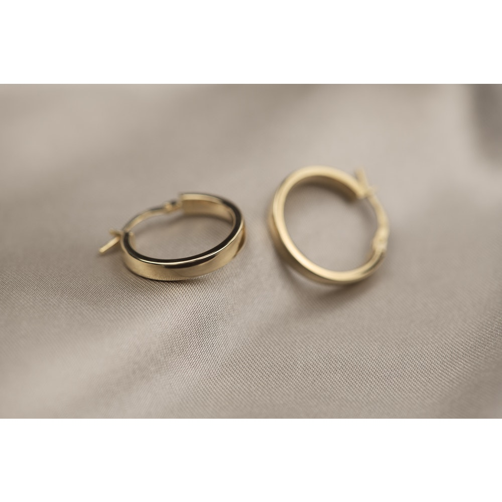 Jessica Alice Jewellery 9ct Solid Gold Basic Hoops