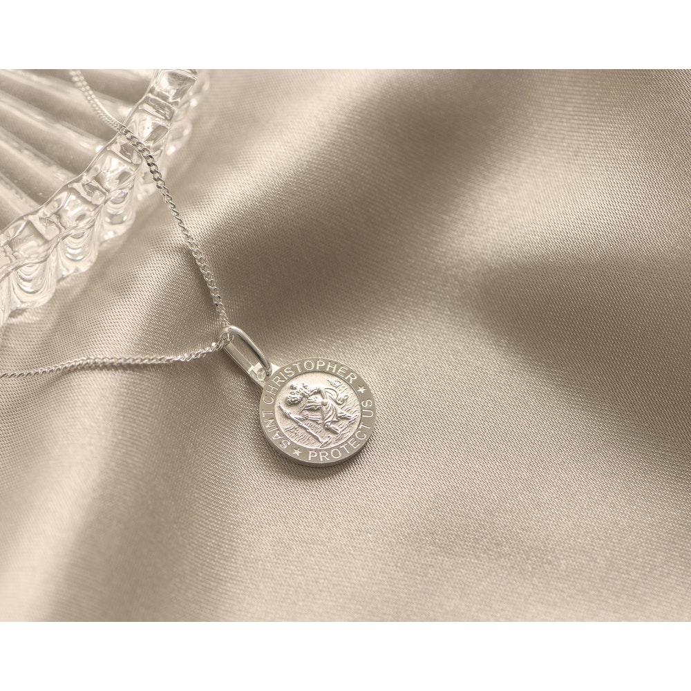 Jessica Alice Jewellery Sterling Silver St Christopher Pendant