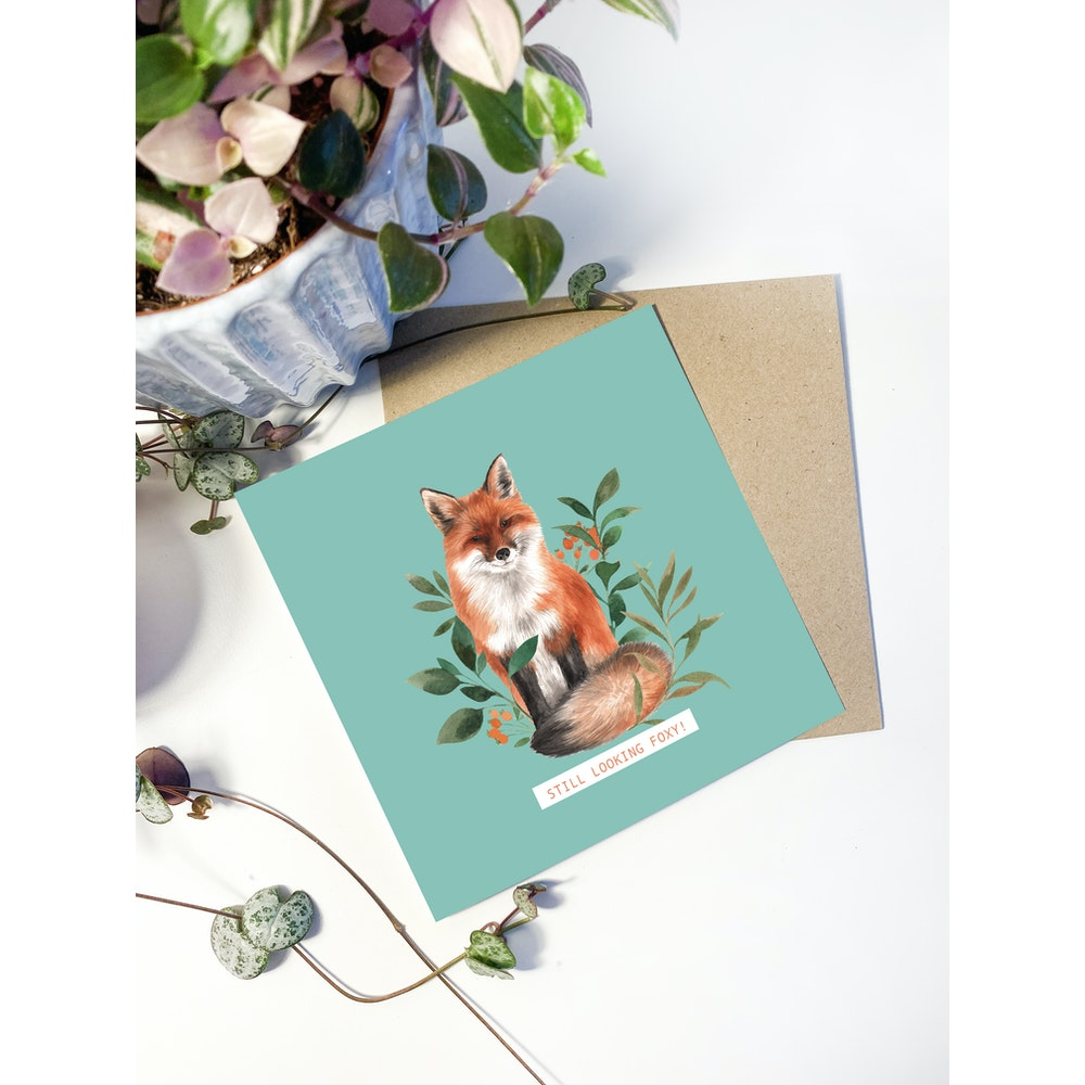 Laura Elizabeth Illustrations Fox Greetings Card
