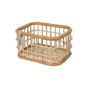 Basil Basket Rear Green Life Rattan M 18L Brown