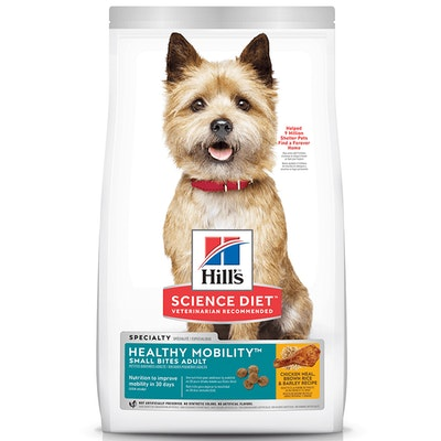 Hills Adults Small Bites Dry Dog Food Chicken Meal Brown Rice & Barley - 2 Sizes
