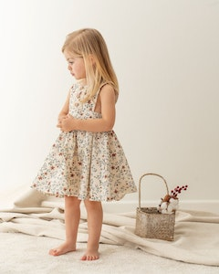 Certified Organic Cotton Willow Floral Pinny Dress