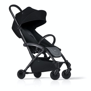 Bumprider Connect Stroller - Grey on Black with Grey Carricot