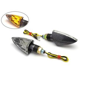 Arrow Head Clear LED Indicators - Carbon