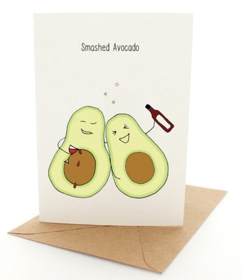 Dirty Bird Gifts Pleasant Tree Designer Gift Card - SMASHED AVOCADO 2021