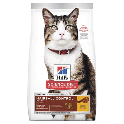 Hills Hill's Science Diet Hairball Control Adult Chicken Dry Cat Food