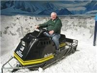 Graham will drive anything - Snow Bike at Antarctic Centre