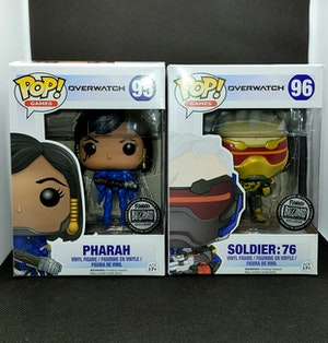 Overwatch - Pharah and Gold Soldier 76 BlizzCon Pop Vinyl Bundle
