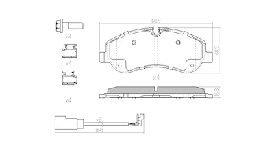 RDA EXTREME HD FRONT BRAKE PADS for FORD TRANSIT VN, VO 2013 ONWARDS - RDX2344