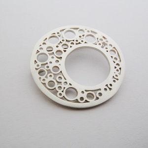 Brooch | Hoopla circle Sterling Silver Brooch