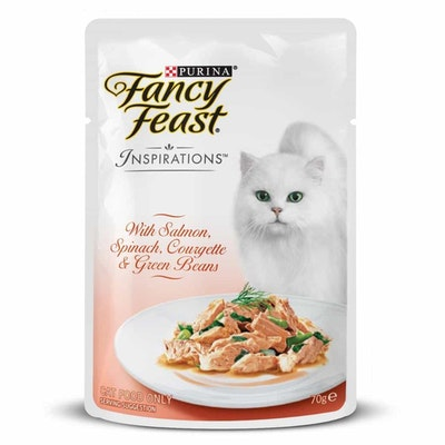 Fancy Feast Inspirations Salmon, Spinach & Beans Wet Cat Food