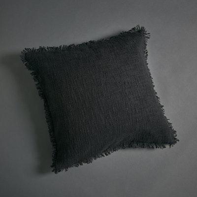 Global Sisters Shop Soft Khadi Cushion Cover - Black