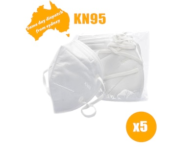 WH Safe CE Certified KN95 Face Mask - Pack of 5