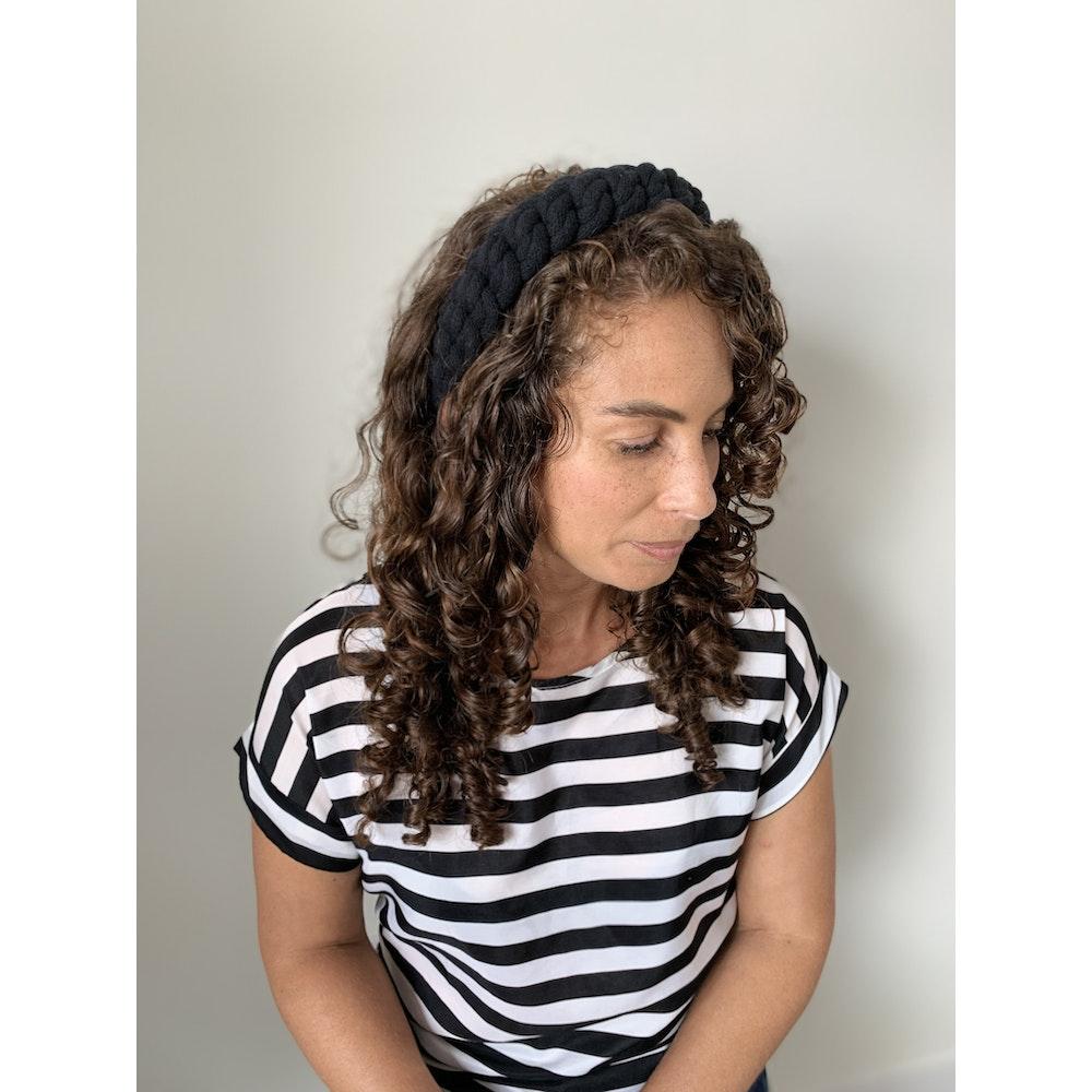 Form Norfolk Chunky Loop Knot Headband In Midnight Black