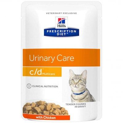 Hill's VET Hill's Prescription Diet C/D Multicare Chicken Pouches Wet Cat Food 85G