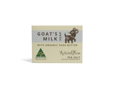 KidsBliss Goats Milk Soap - Shea Butter - Sea Salt 100g