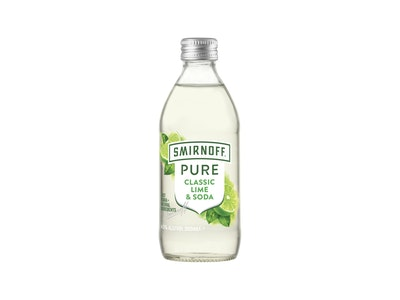Smirnoff Pure Classic Lime and Soda Bottle 300mL