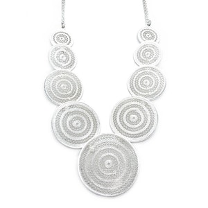 Aztec Circles Statement Necklace