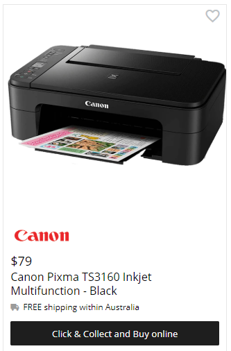 Canon Pixma TS3160 Inkjet Multifunction Printer