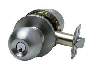 Carbine PE3062 Vestibule / Storeroom knob set 60mm back set in satin stainless steel finish