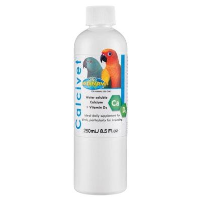 Vetafarm Calcivet Calcium Vitamin D3 Pet Bird Supplement - 6 Sizes