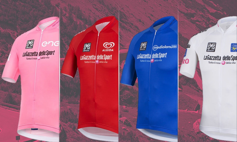100 years of the giro d italia jerseys